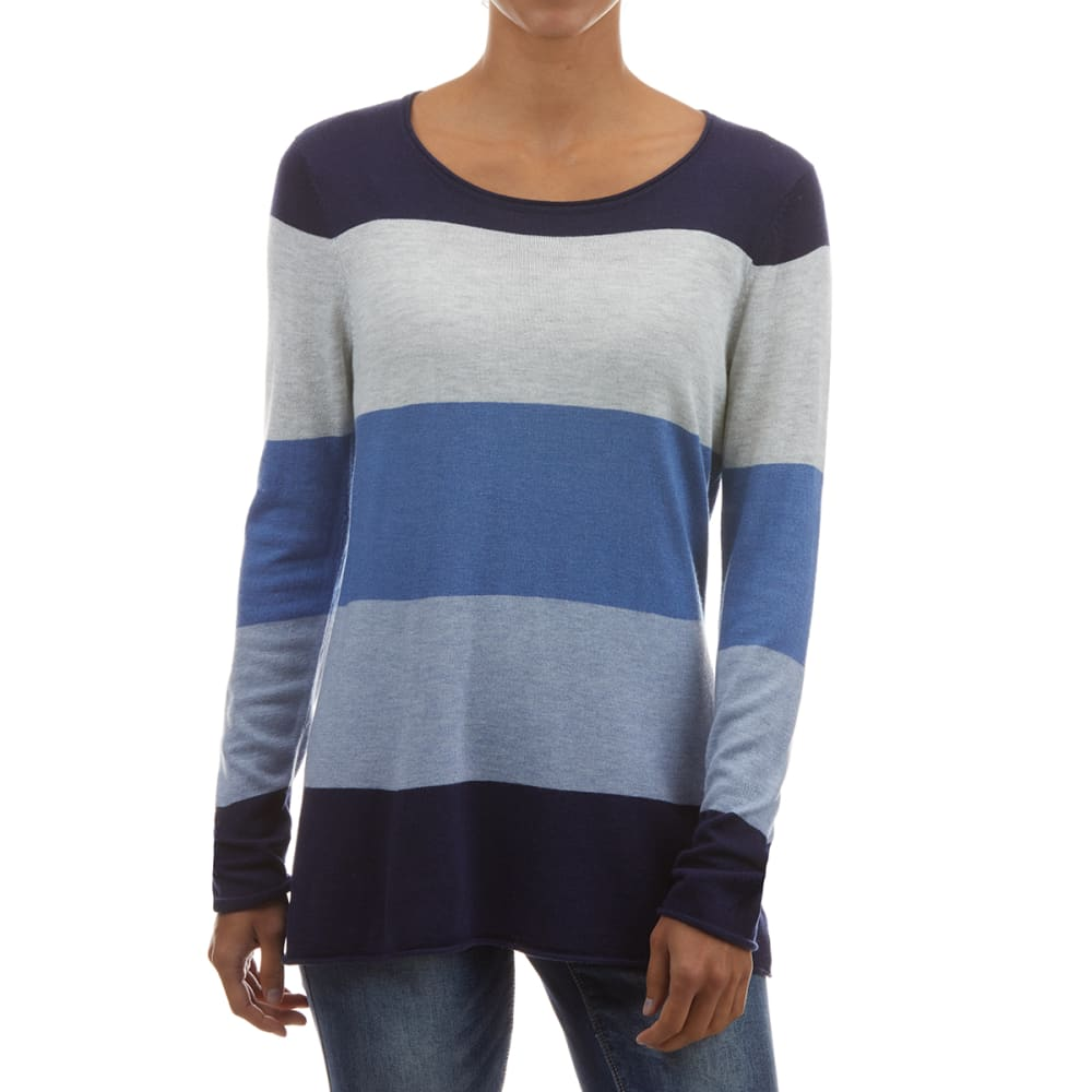 JEANNE PIERRE Women's Cashmere Infused Crew Neck Sweater L