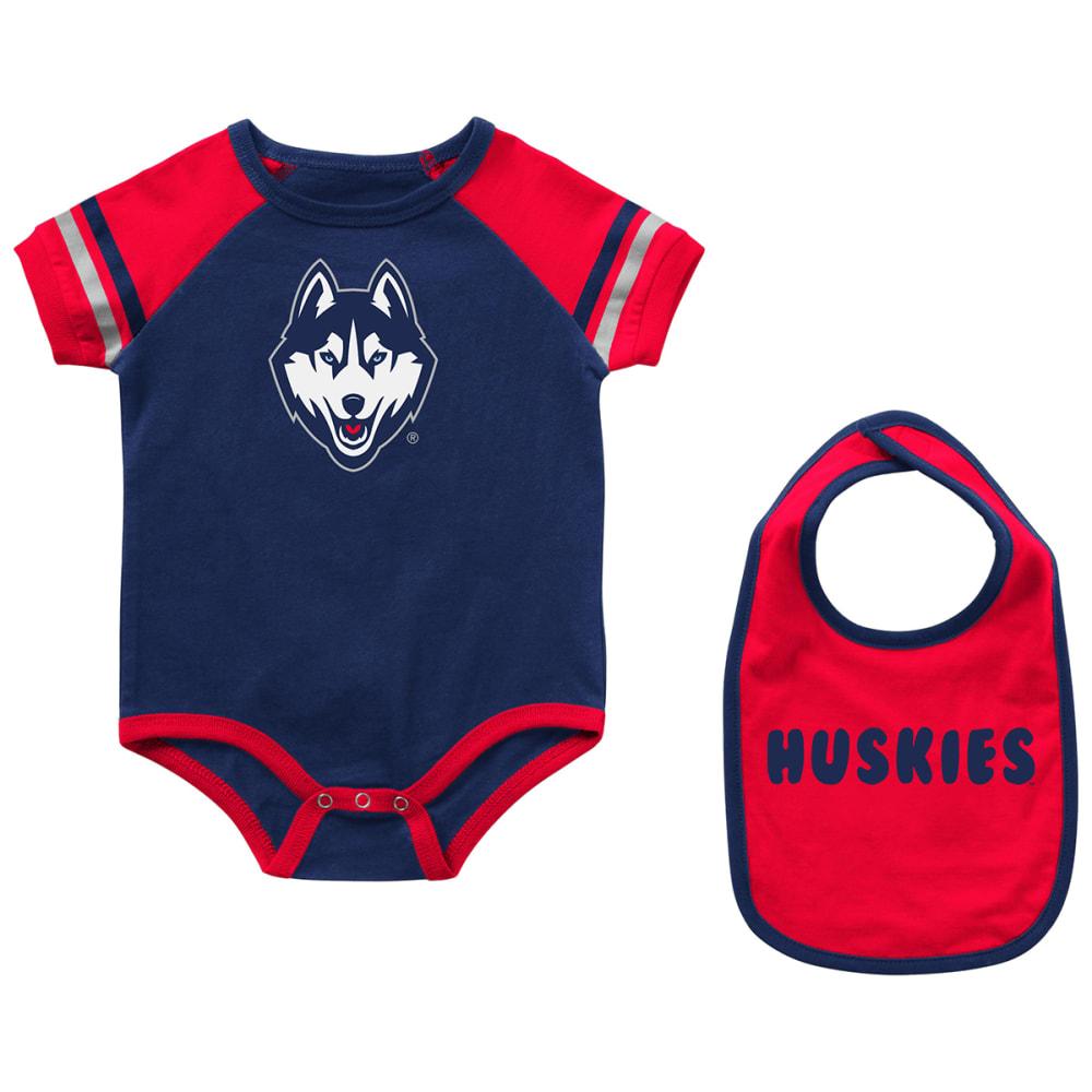 UCONN Infant Onesie and Bib Set 0-3M