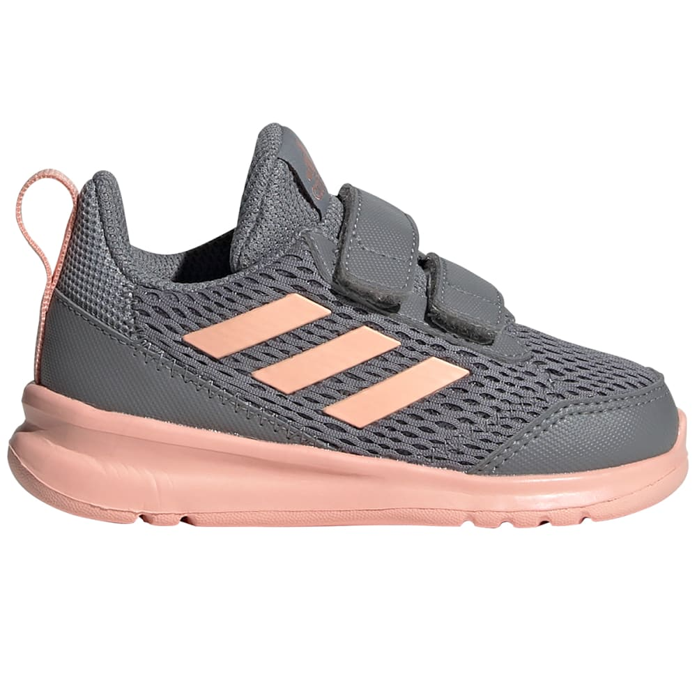 Adidas Girls' Altarun Running Sneakers - Black, 4