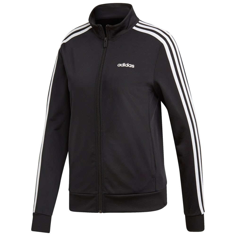 Adidas Women's Essentials 3-Stripes Tricot Jacket - Black, S
