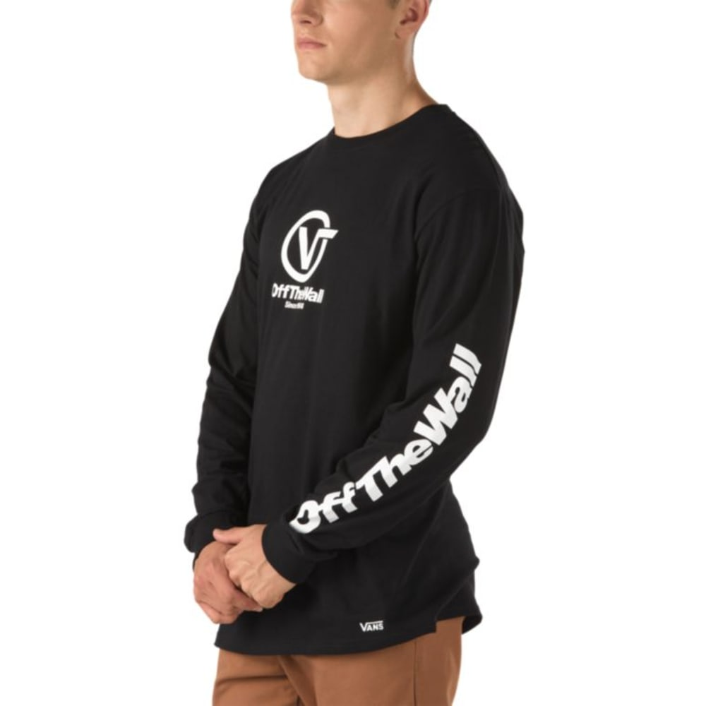 Vans Men's Distorted Performance Long Sleeve Tee - Black, S
