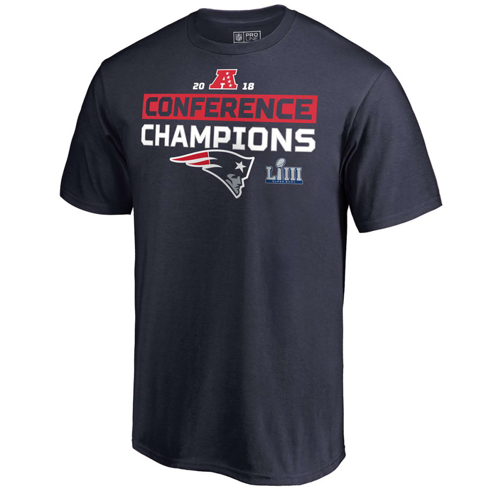 NEW ENGLAND PATRIOTS Conference Champs Hashmark Short-Sleeve Tee - NAVY