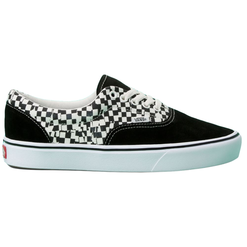 Vans Men's Comfycush Tear Check Era Shoe - Black, 9.5