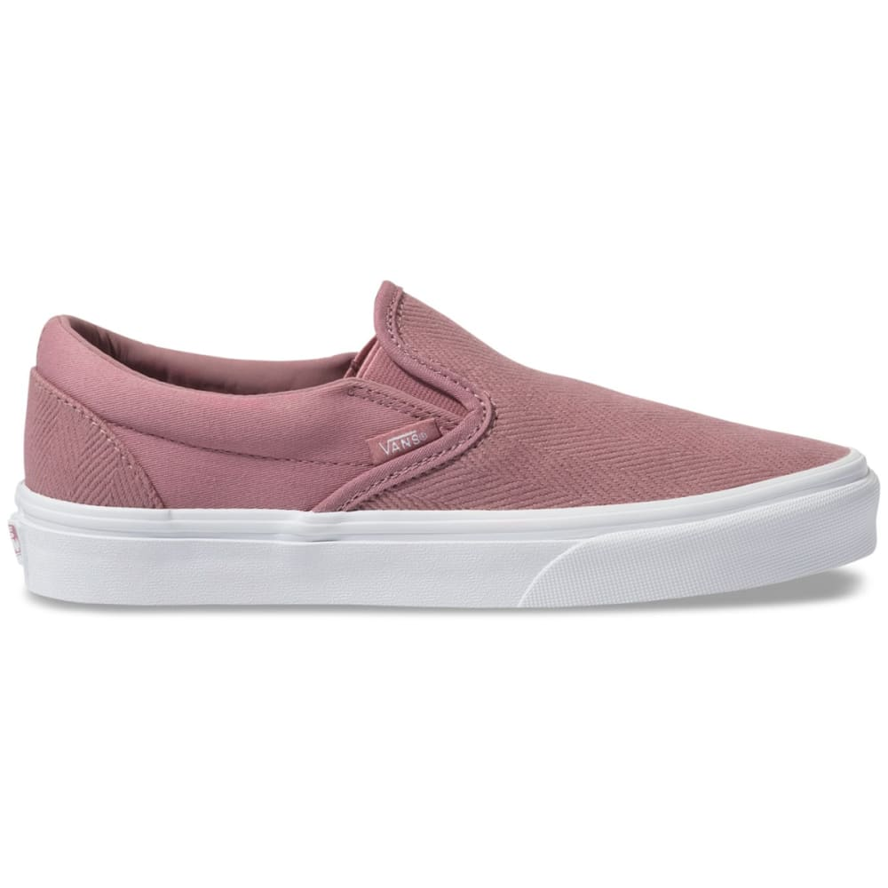 Vans Women's Classic Slip-On Shoe - Red, 6.5
