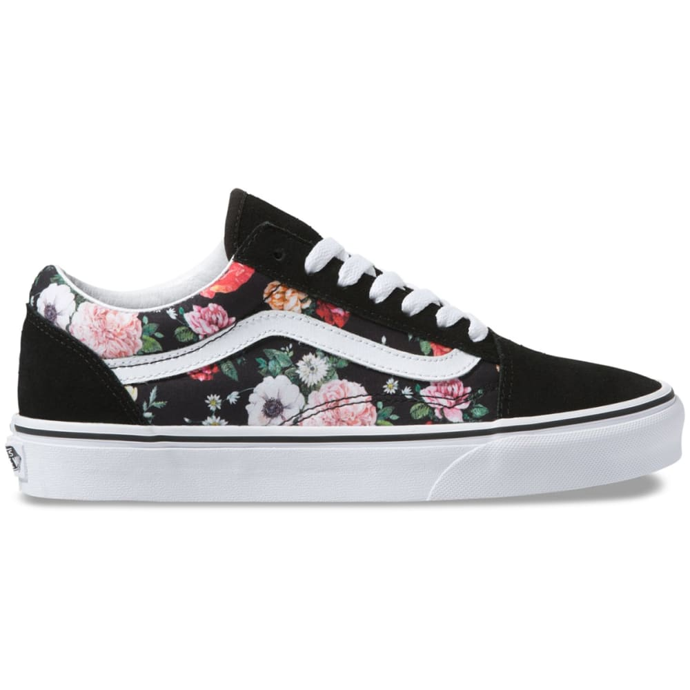 Vans Women's Old Skool Garden Floral Skate Shoe - Black, 7