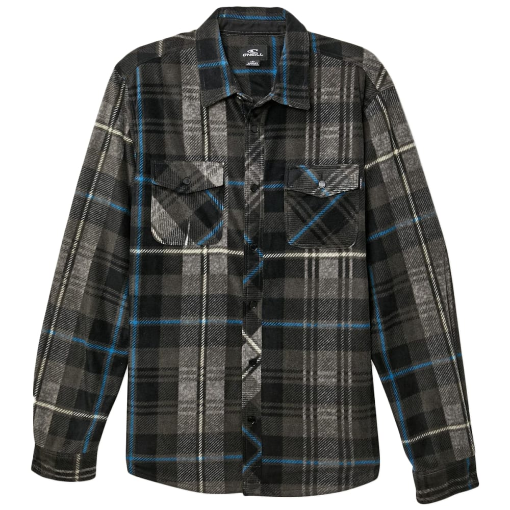 O'neill Men's Glacier Plaid Long-Sleeve Shirt - Black, S