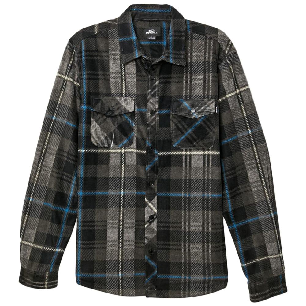 O'neill Men's Glacier Plaid Long-Sleeve Shirt - Black, S