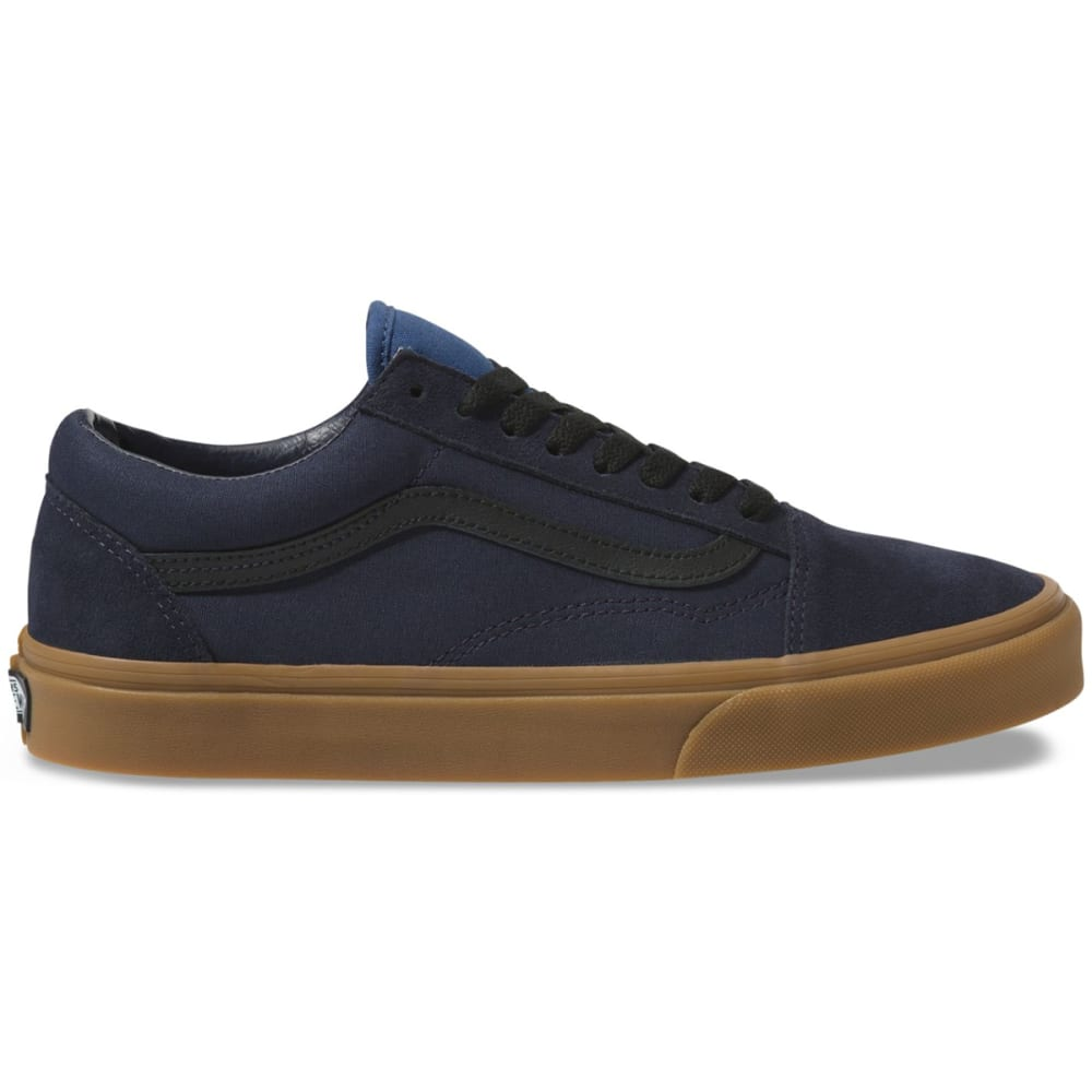 Vans Men's Gum Old Skool Shoes - Blue, 9
