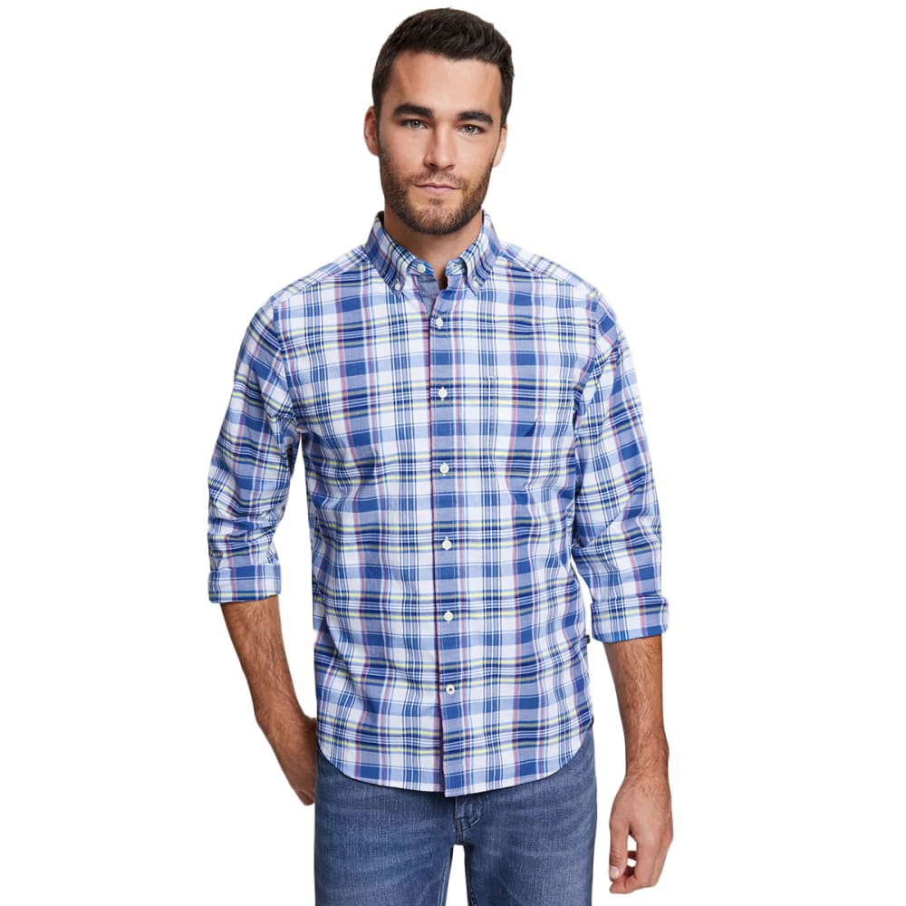 NAUTICA Men's Stretch Poplin Long-Sleeve Shirt M