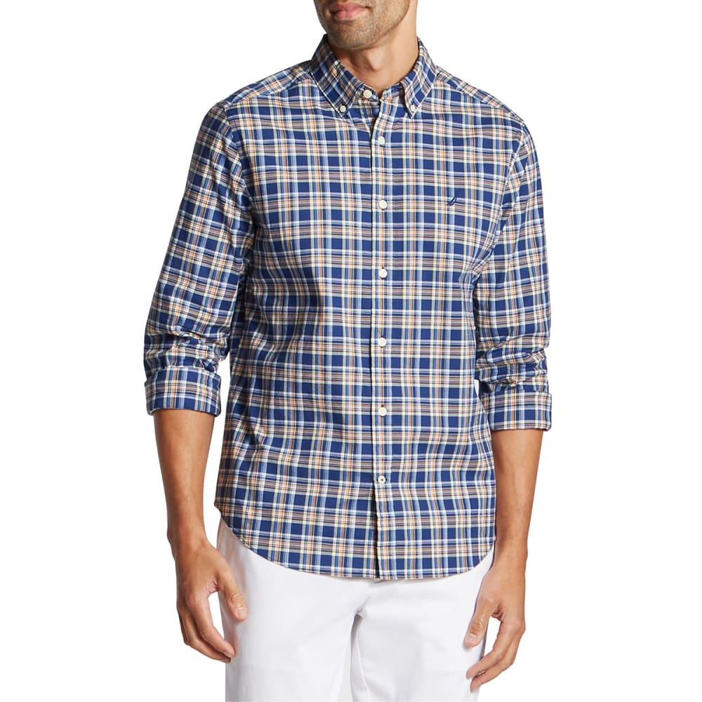 NAUTICA Men's Stretch Poplin Long-Sleeve Shirt M