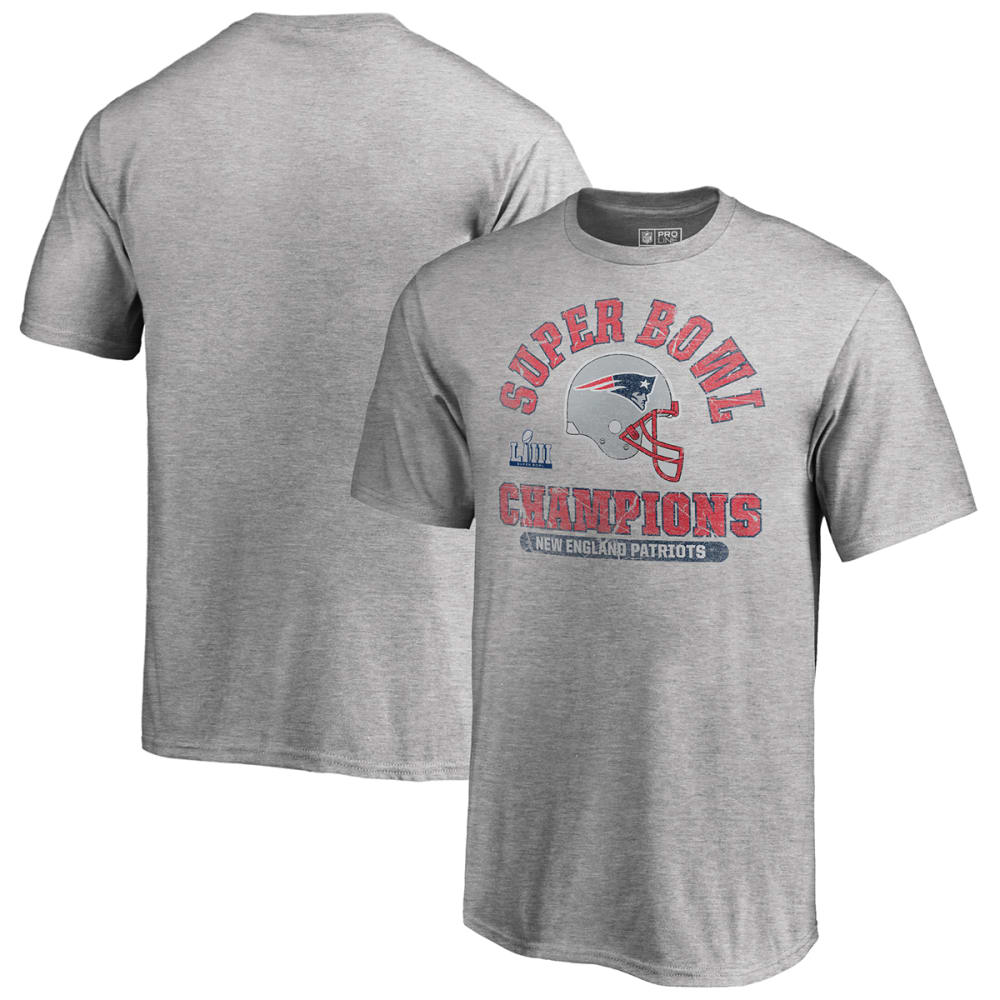 NEW ENGLAND PATRIOTS Kids' Super Bowl LIII Champions Short-Sleeve Double Coverage Tee - GREY