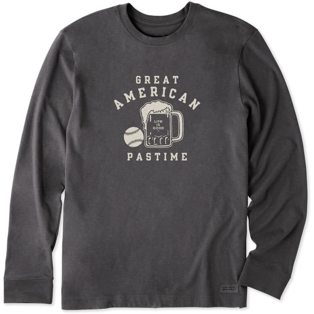 Life Is Good Men's Great American Pastime Sweatshirt - Black, M