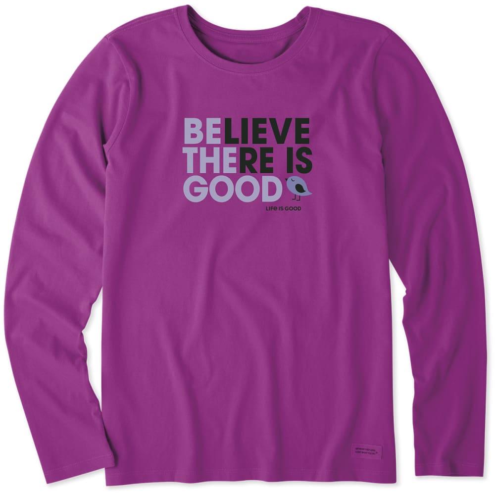 Life Is Good Women's Be The Good Long-Sleeve Tee - Purple, S