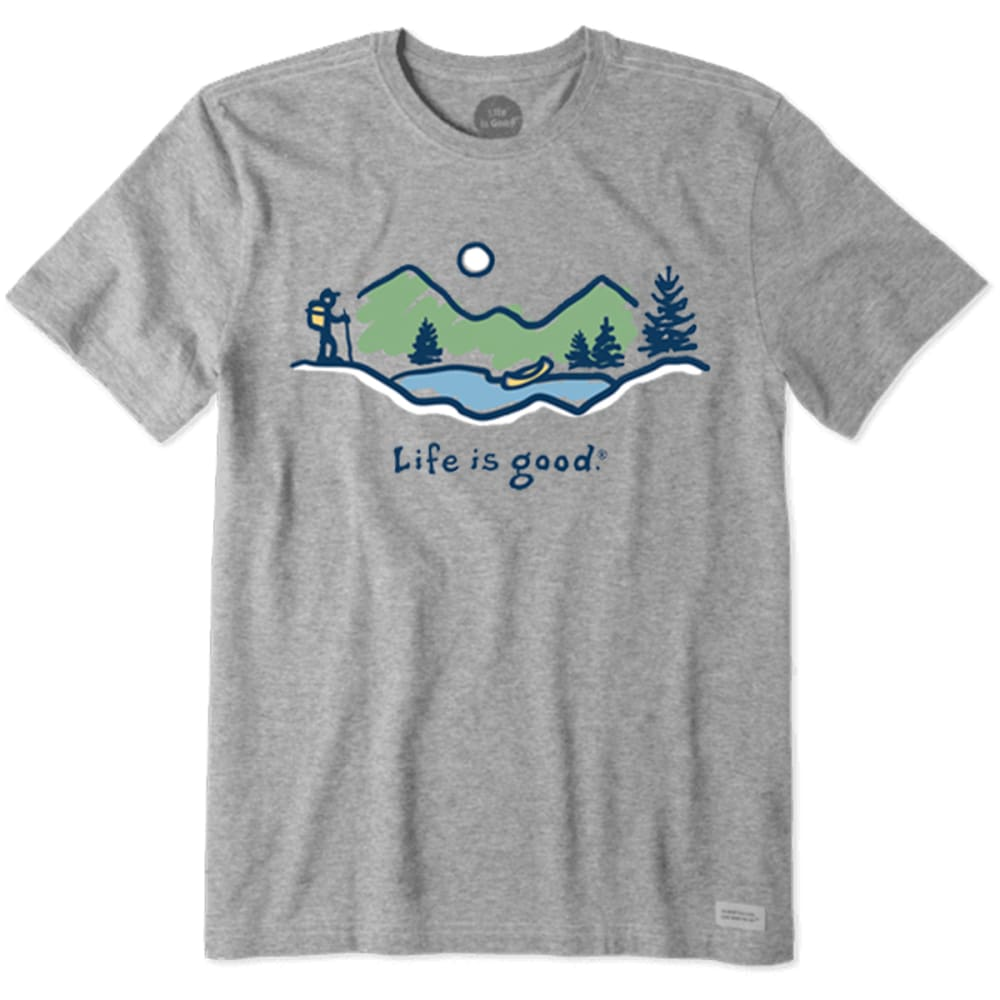 Life Is Good Men's Hike Vista Crusher Tee - Black, M