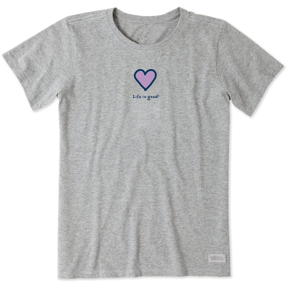 Life Is Good Women's Short-Sleeve Heart Crusher Tee - Black, S