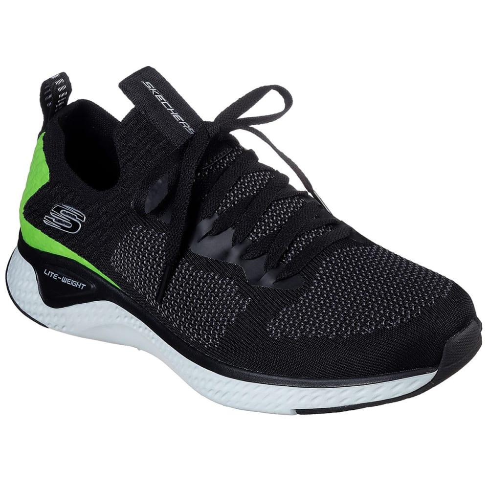 SKECHERS Men's Solar Fuse Valedge Athletic Shoes - BLACK BKLM
