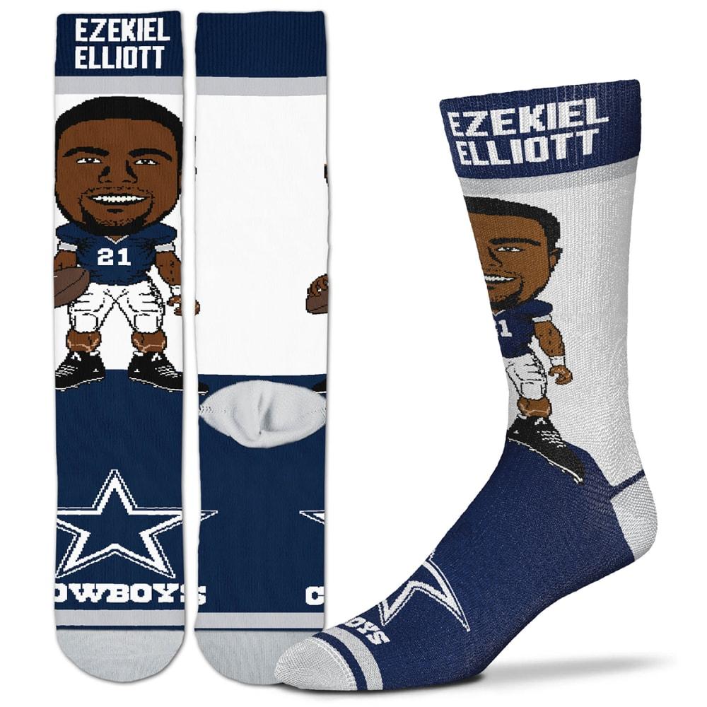 DALLAS COWBOYS Men's Ezekiel Elliott Hashtag Player Socks M