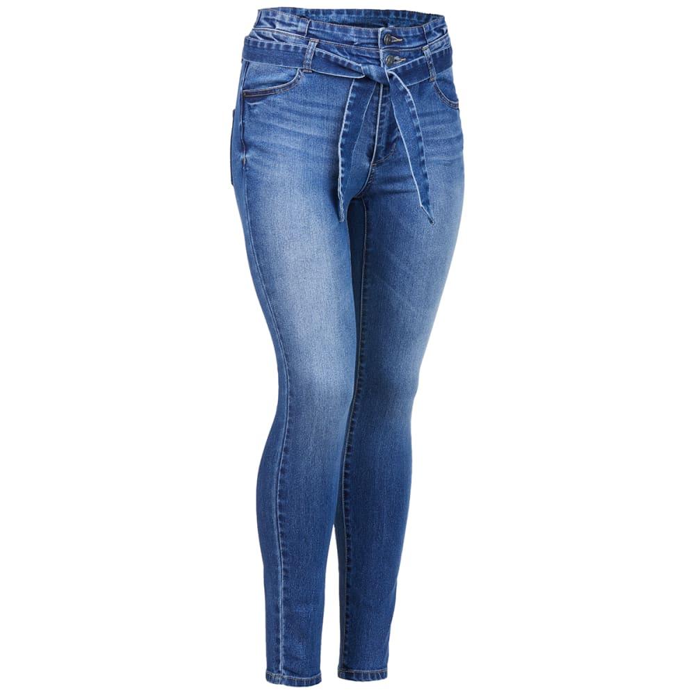 BLUE SPICE Juniors' Paper Bag Skinny Jeans 0
