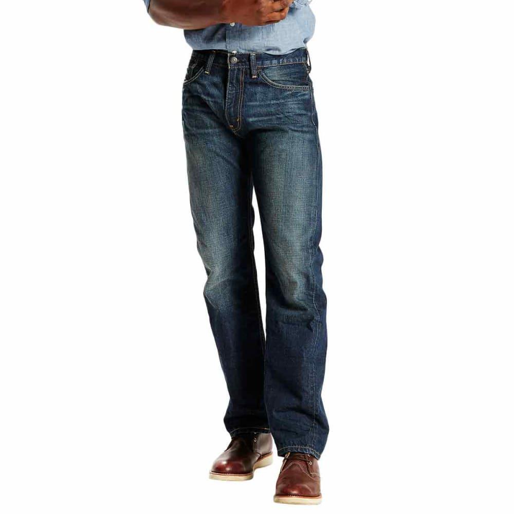 Levis Men's 505 Straight Fit Jeans - Blue, 34/36