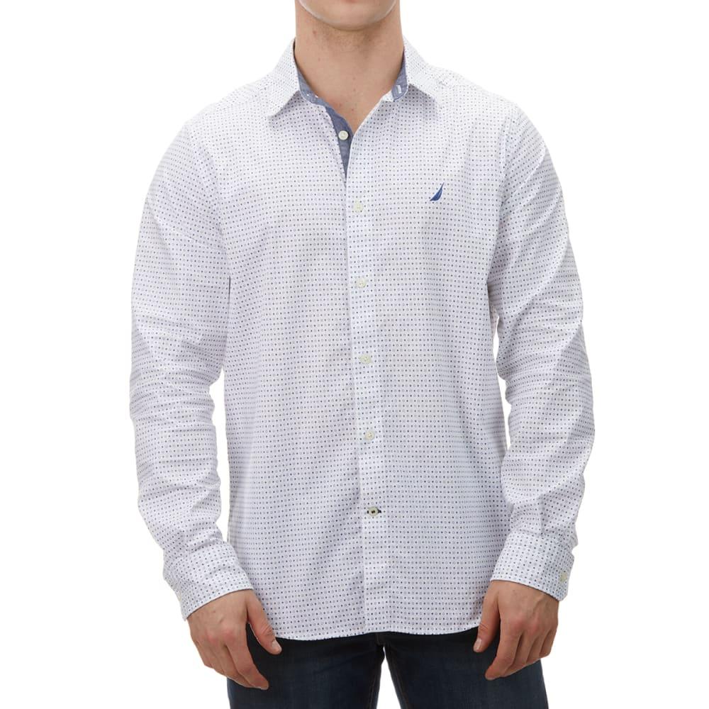 NAUTICA Men's Long-Sleeve Cotton Stretch Oxford Woven Shirt XL