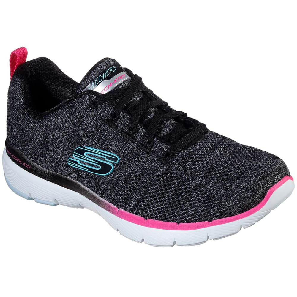 Skechers Women's Flex Appeal 3.0 Reinfall Sneakers - Black, 7