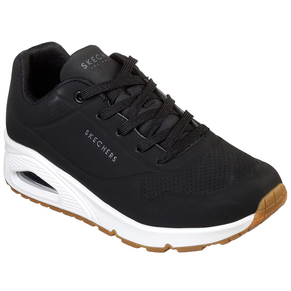 Skechers Women's Street Uno Stand On Air Shoes - Black, 6.5