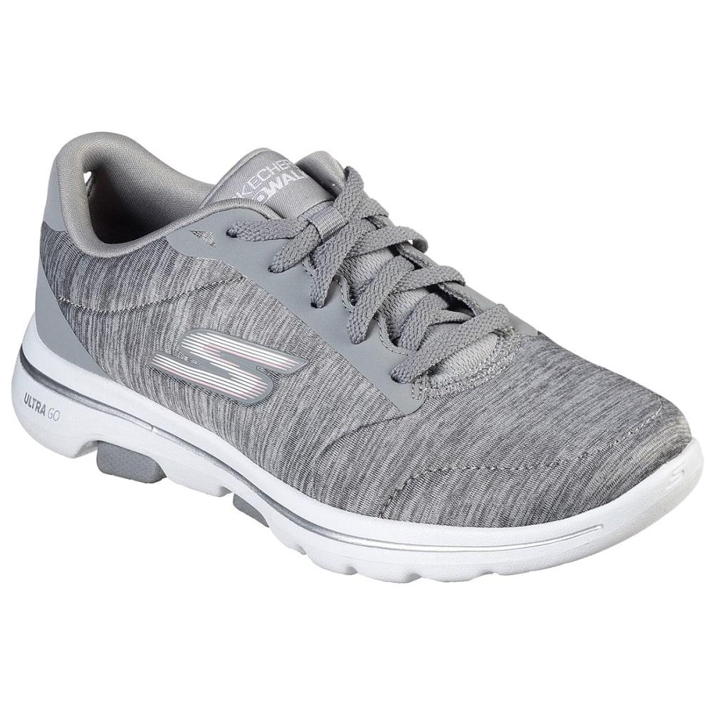 Skechers Women's Go Walk 5 True Lace Up Sneakers - Black, 7