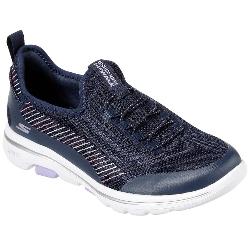 Skechers Women's Go Walk 5-Prolific Slip On Sneakers - Blue, 7