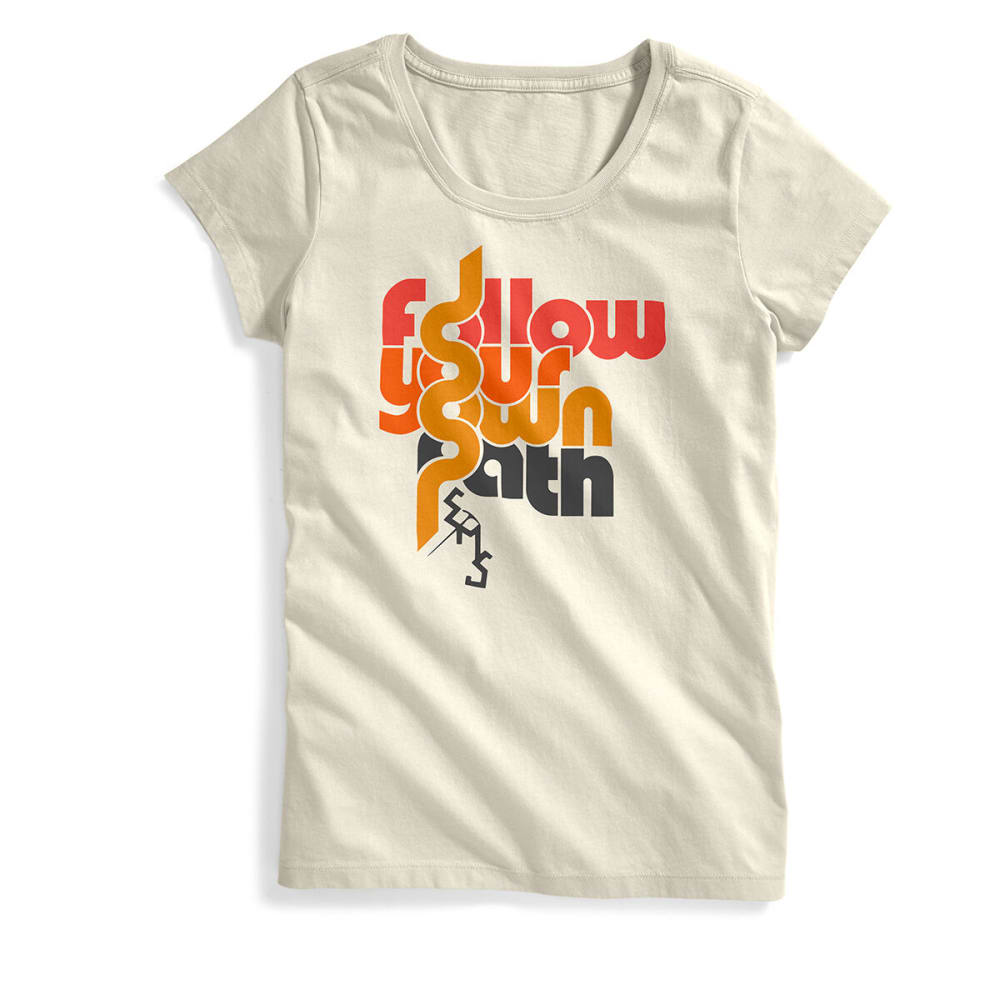 Ems Women's Follow Your Own Path Short-Sleeve Graphic Tee - White, XS