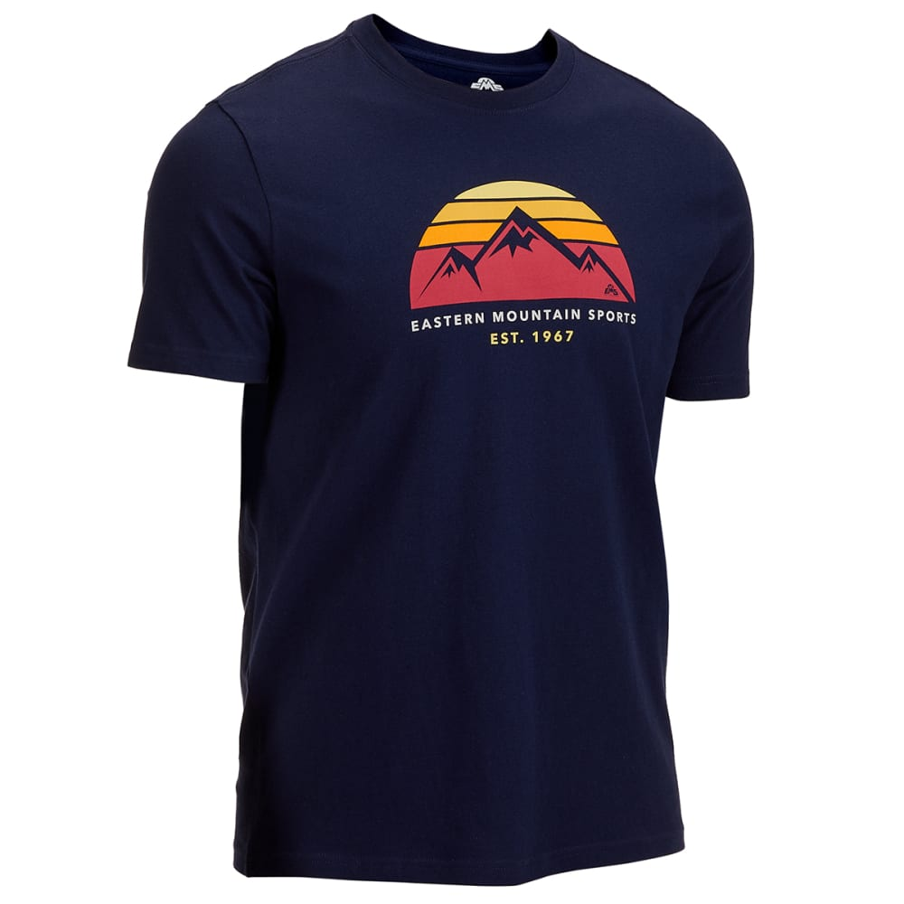 Ems Men's Est. 1967 Sunset Short-Sleeve Graphic Tee - Blue, S