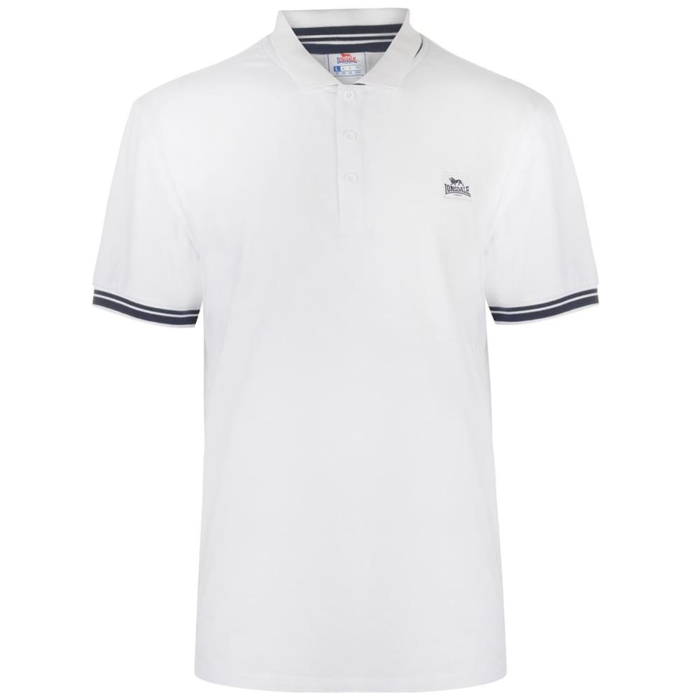 Lonsdale Men's Jersey Polo - White, L