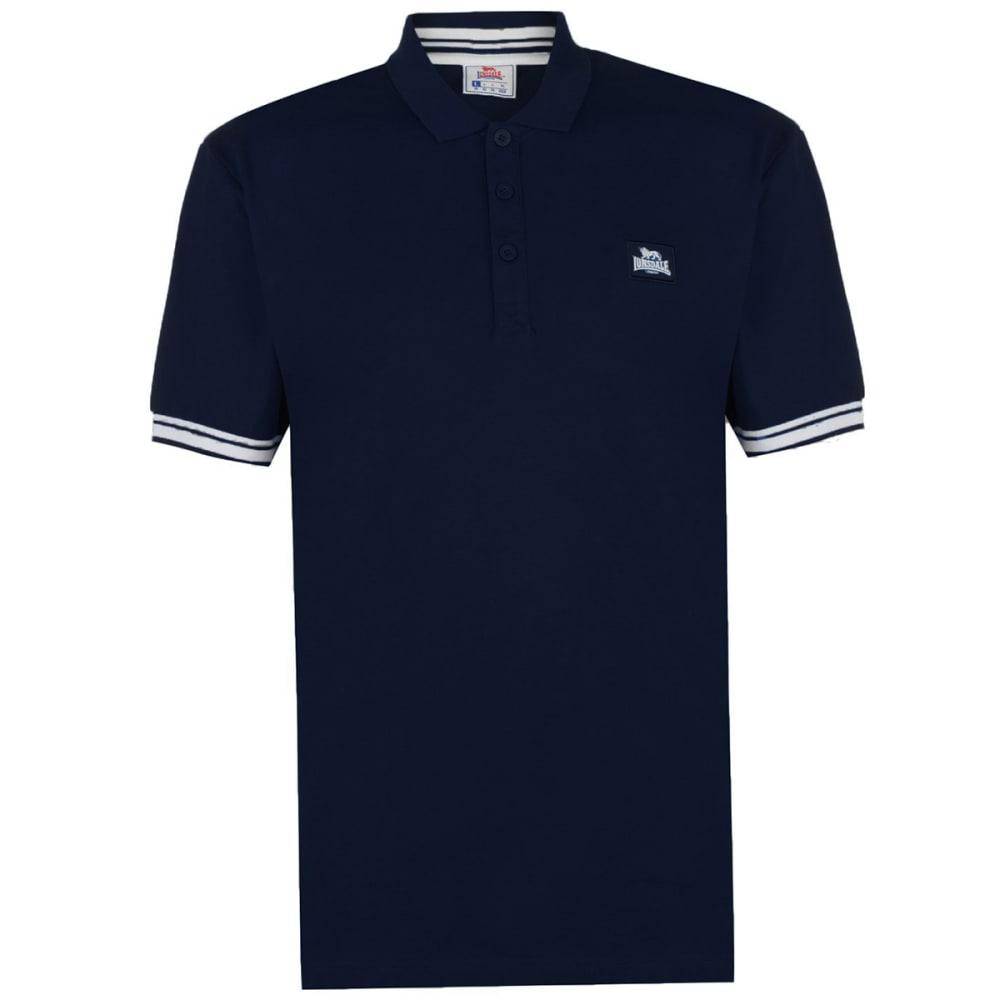 Lonsdale Men's Jersey Polo - Blue, L