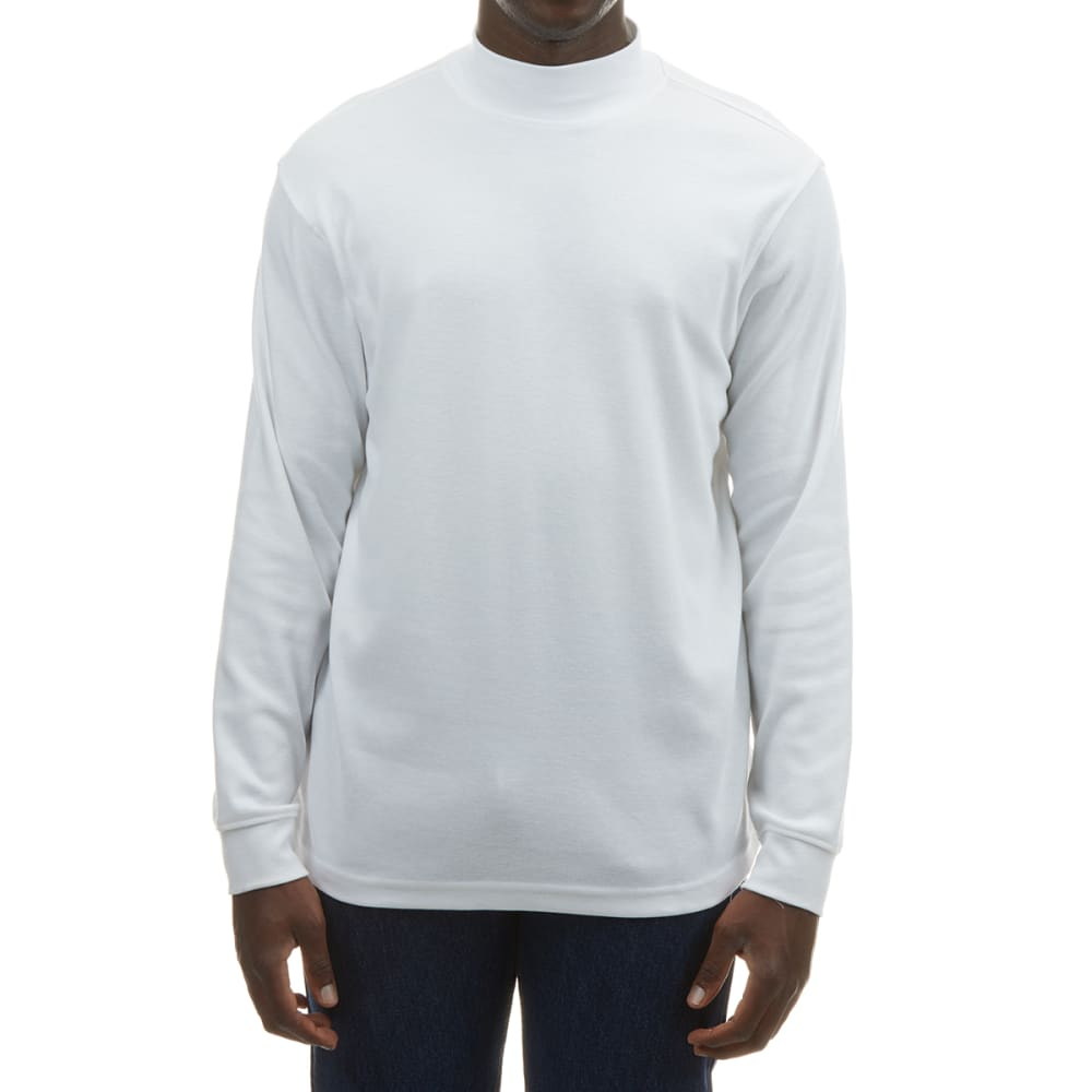RUGGED TRAILS Men's Interlock Knit Mock Neck Sweater L