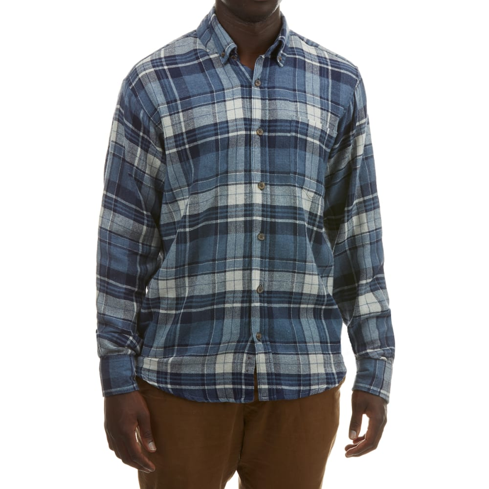 RUGGED TRAILS Men's Plaid Flannel Shirt S