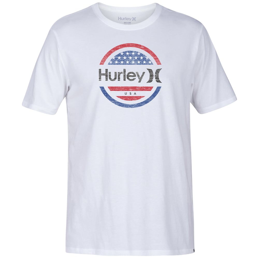 Hurley Men's Premium One And Only Circle Graphic Tee - White, S