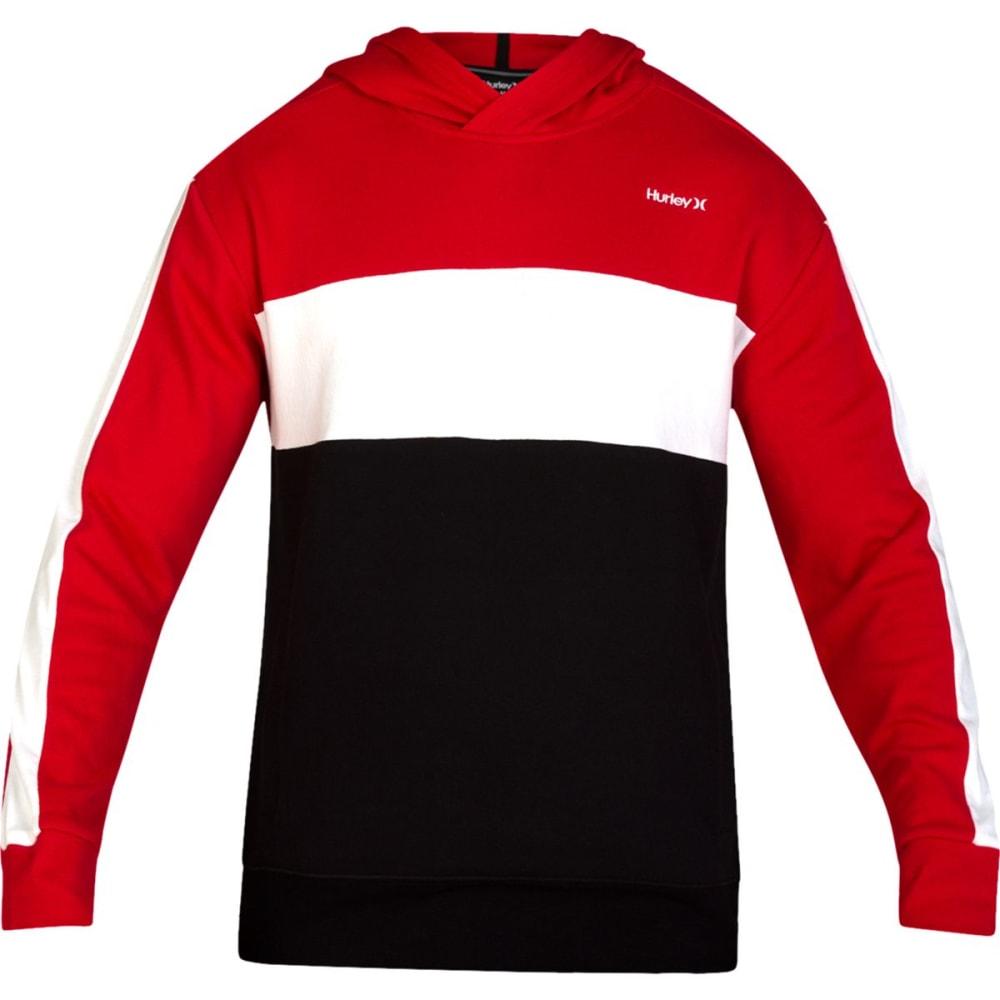 Hurley Men's Blocked Fleece Pullover Hoodie - Red, S