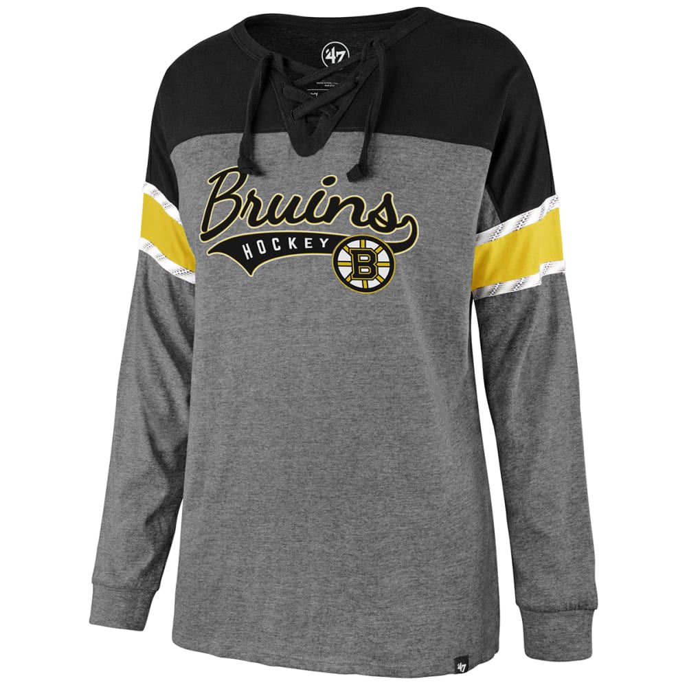 BOSTON BRUINS Women's Laced Up Long-Sleeve Tee M