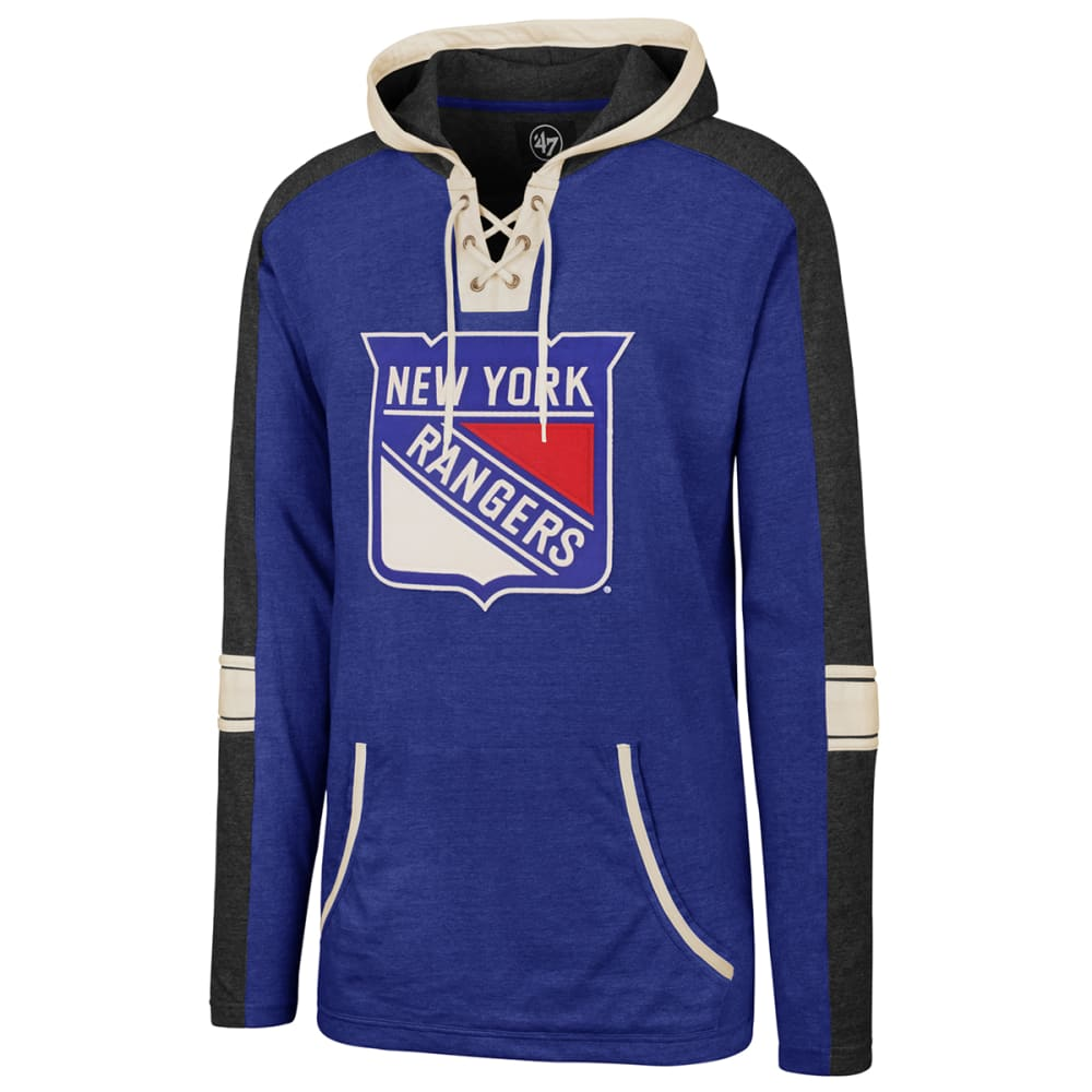 NEW YORK RANGERS Men's Lace Up Hoodie M