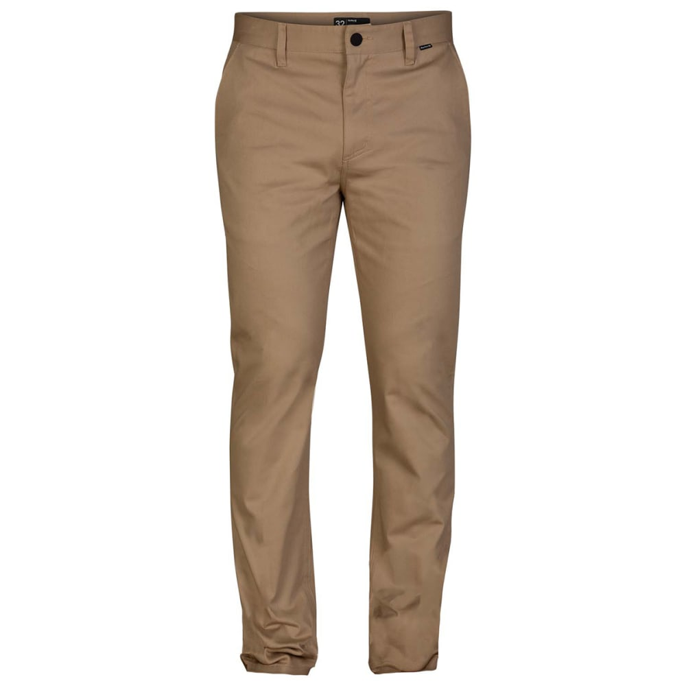 Hurley Men's Icon Stretch Chino Pants - Brown, 30