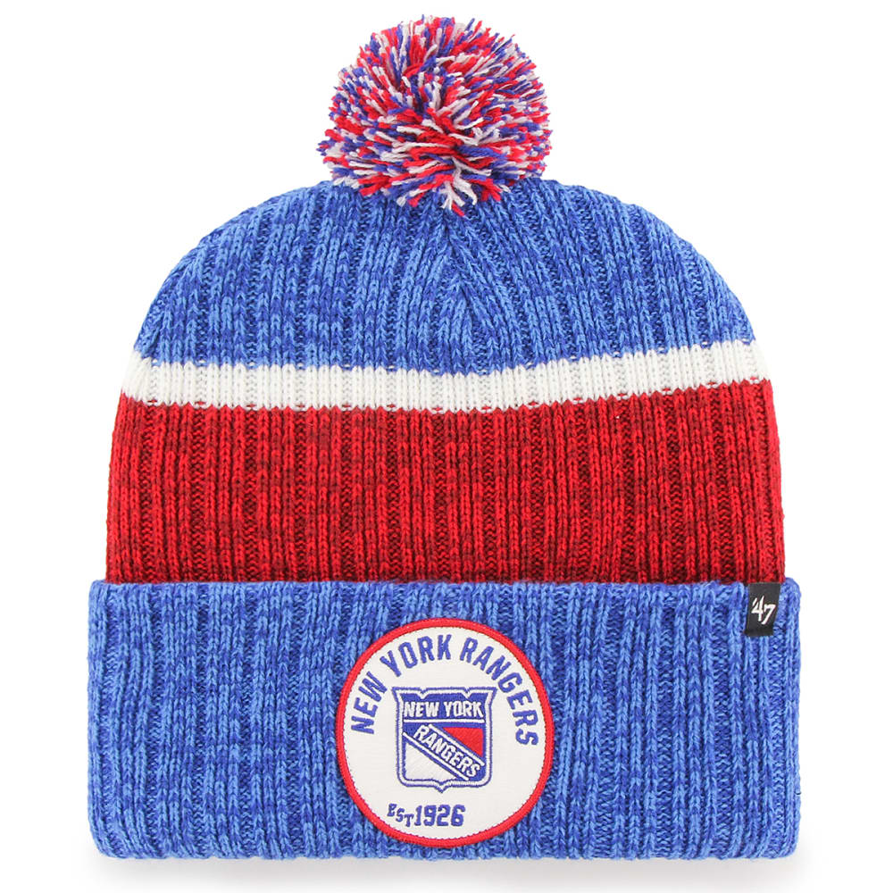 NEW YORK RANGERS Men's Holcomb 47' Cuffed Pom Knit Beanie ONE SIZE