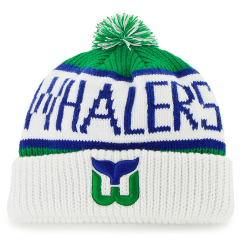 HARTFORD WHALERS '47 Calgary Cuff Knit Beanie with Pom ONE SIZE