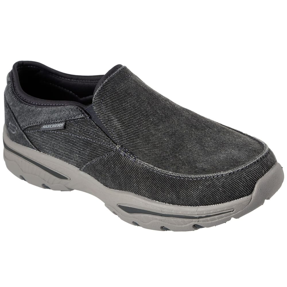 SKECHERS Men's Relaxed Fit Creston-Moseco Slip-On Shoe - CHARCOAL-CHAR