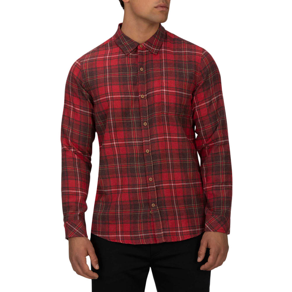 Hurley Men's Vedder Washed Long-Sleeve Shirt - Red, M