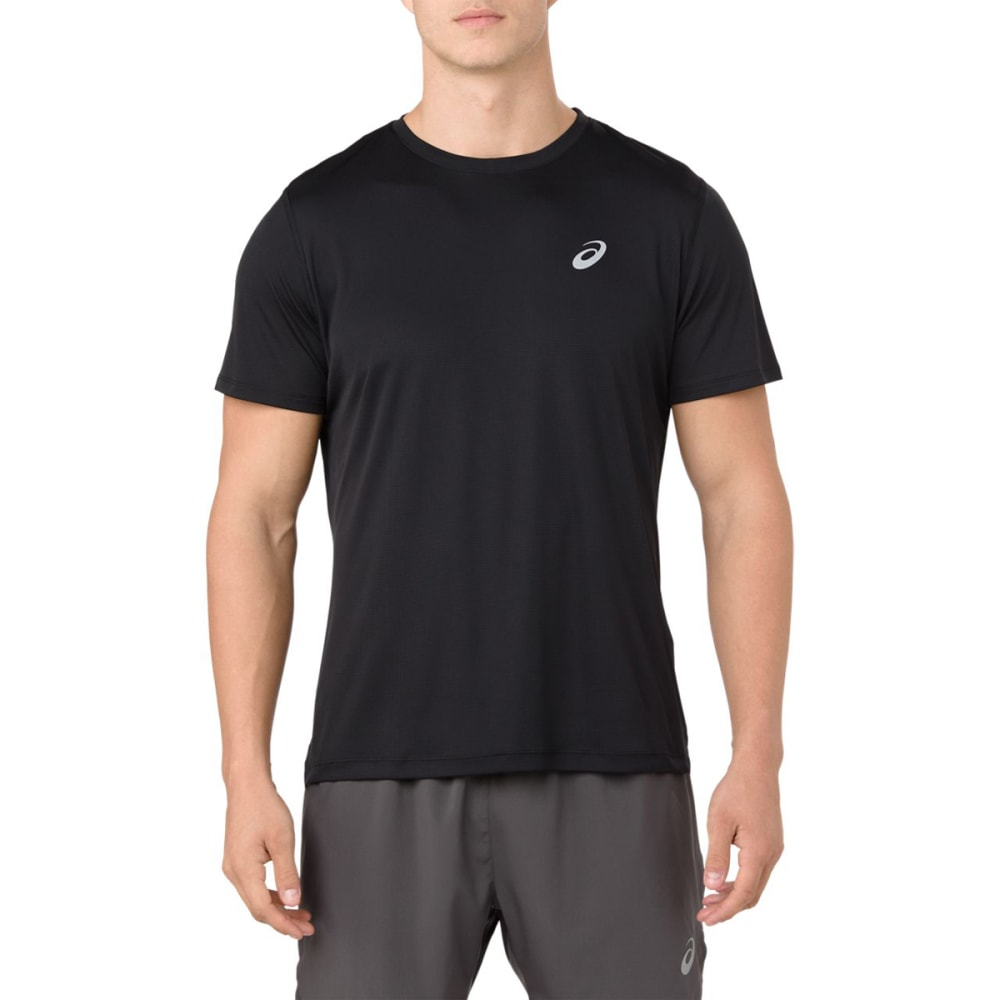 ASICS Men's Short-Sleeve Silver Performance Tee L