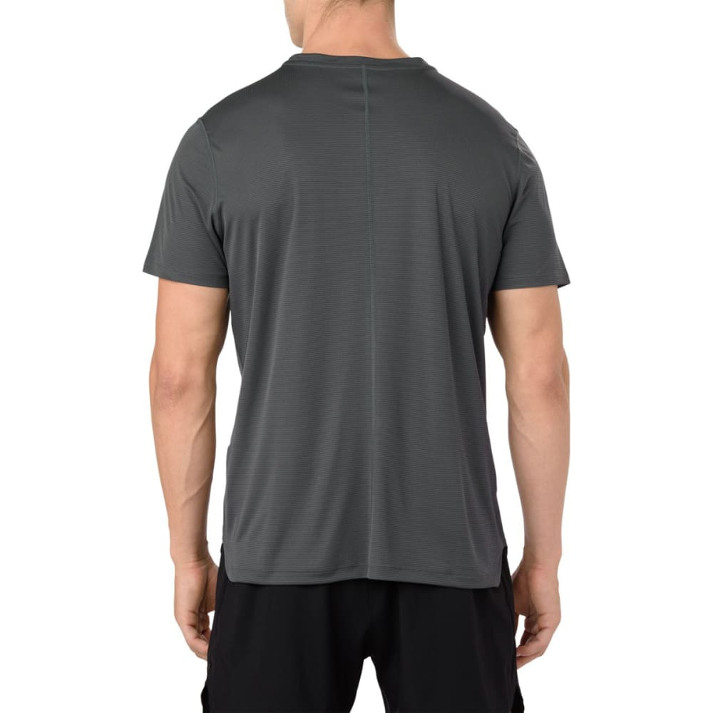 ASICS Men's Short-Sleeve Silver Performance Tee - DARK GREY-022