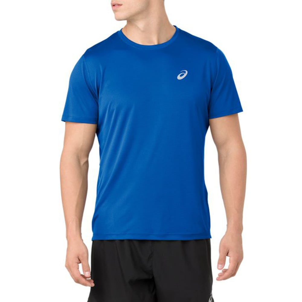 ASICS Men's Short-Sleeve Silver Performance Tee M