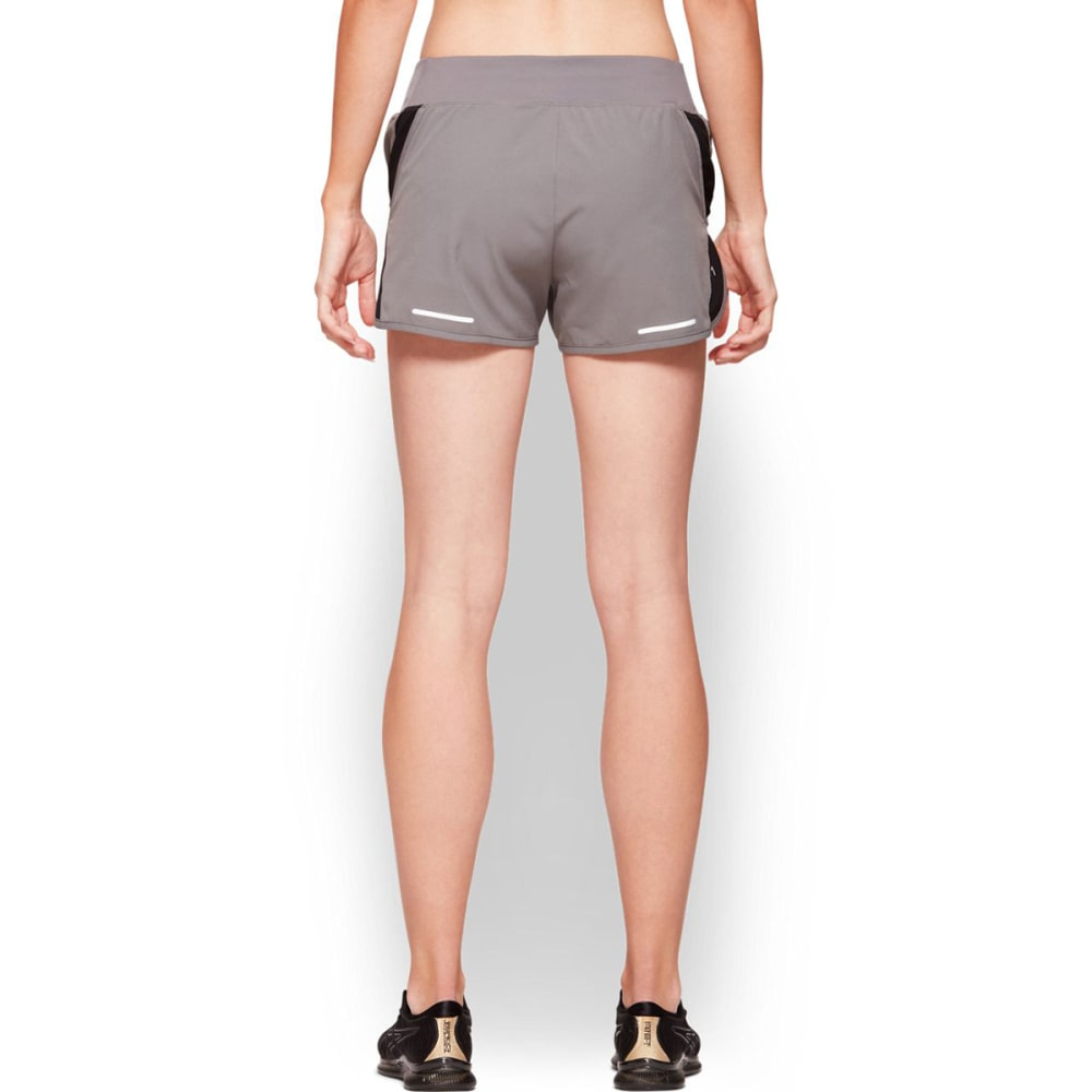 ASICS Women's 3-inch Midrise Running Shorts - CARBON/BLK-020