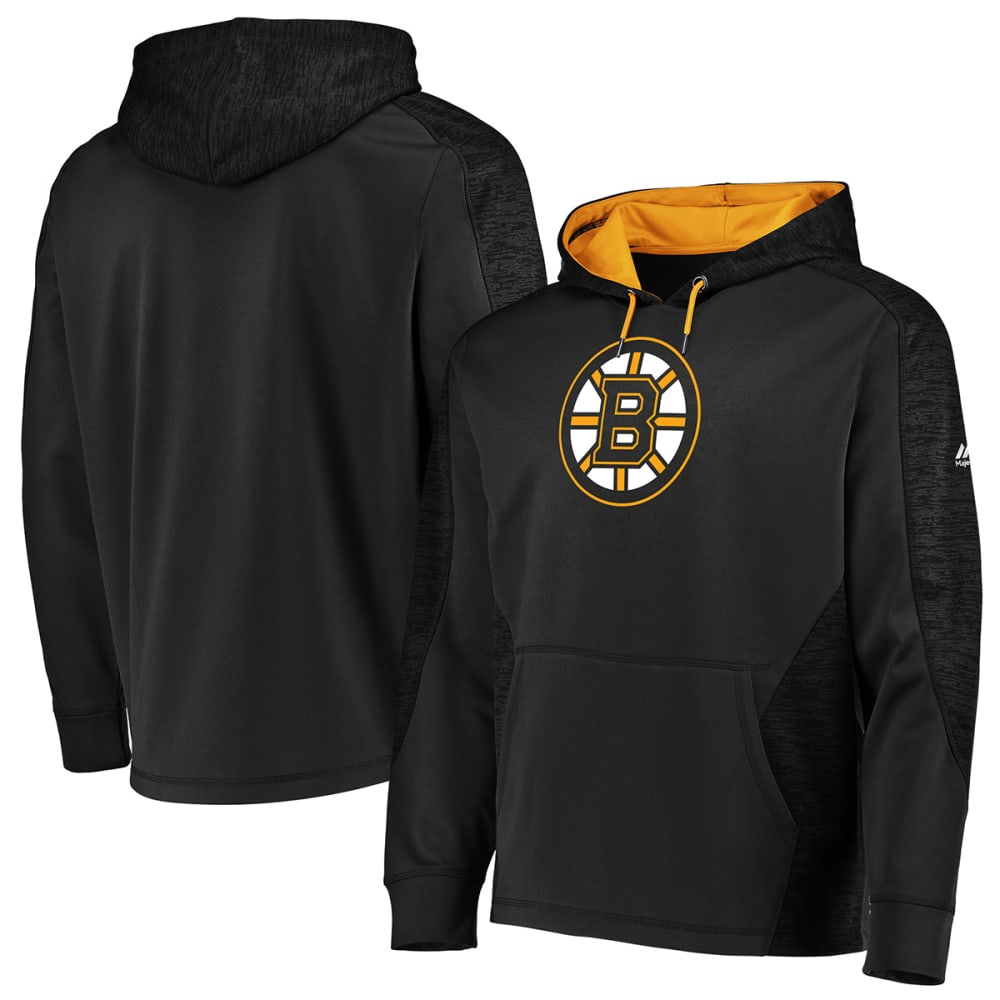 Boston Bruins Men's Armor Logo Pullover Hoody - Black, S