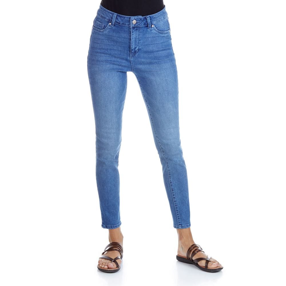 D JEANS Women's High Waist Muffin Cover Ankle Denim Jeans 4