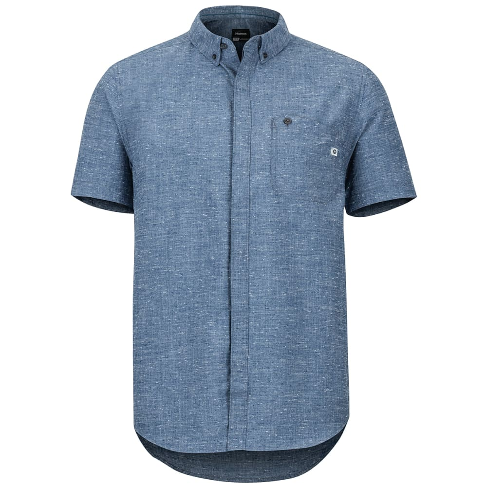 Marmot Men's Cooper Canyon Short-Sleeve Shirt - Blue, M